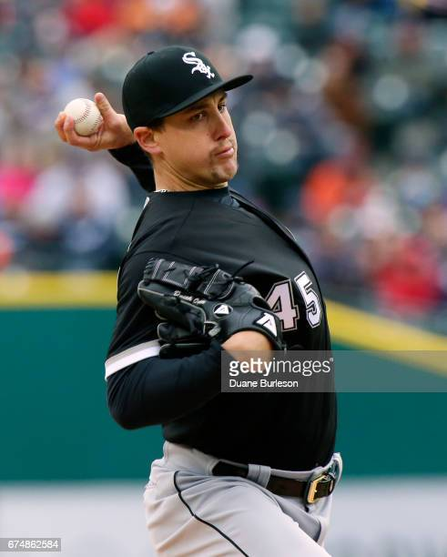 Derek Holland of the Chicago White Sox pithes against the Detroit Tigers during the first inning at Comerica Park on April 29 2017 in Detroit Michigan