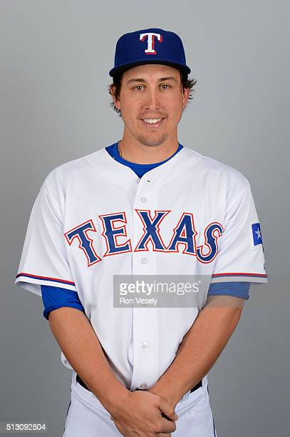 Derek Holland of the Texas Rangers poses during Photo Day on Sunday February 28 2016 at Surprise Stadium in Surprise Arizona