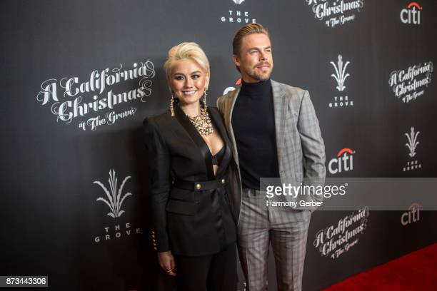 Derek Hough and Agnez Mo attend the California Christmas at The Grove on November 12 2017 in Los Angeles California