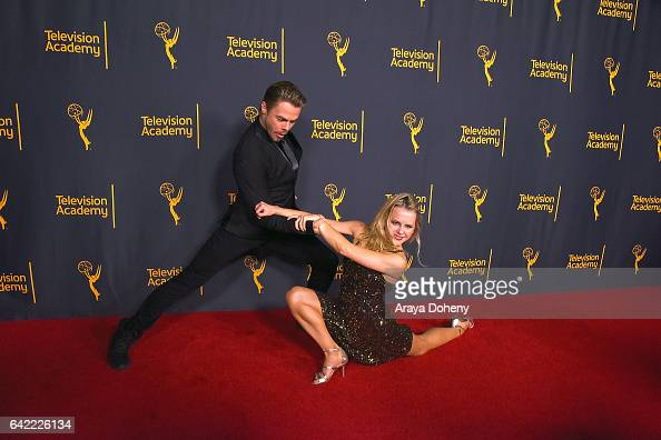 Derek Hough and Ekaterina Fedosova attend the Television Academy's 'Whose Dance Is It Anyway' at Saban Media Center on February 16 2017 in North...