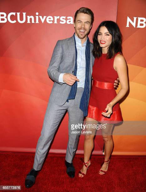 Derek Hough and Jenna Dewan Tatum attend the 2017 NBCUniversal summer press day The Beverly Hilton Hotel on March 20 2017 in Beverly Hills California