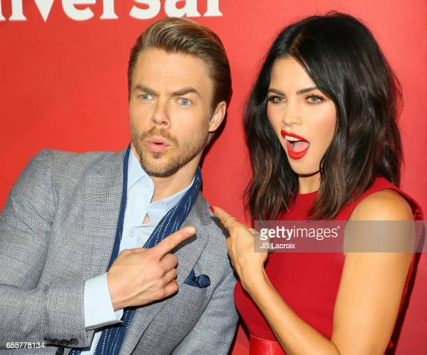 Derek Hough and Jenna Dewan Tatum attend the 2017 NBCUniversal Summer Press Day on March 20 2017 in Beverly Hills California