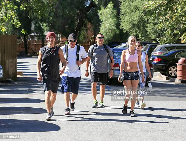 Derek Hough and Julianne Hough are seen on July 14 2016 in Los Angeles California