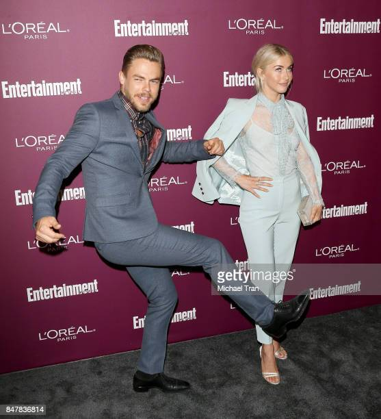 Derek Hough and Julianne Hough arrive at Entertainment Weekly's 2017 PreEmmy Party held at Sunset Tower Hotel on September 15 2017 in West Hollywood...