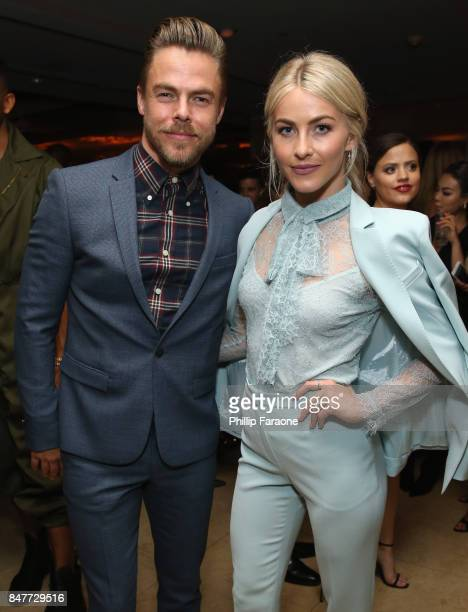 Derek Hough and Julianne Hough attend the 2017 Entertainment Weekly PreEmmy Party at Sunset Tower on September 15 2017 in West Hollywood California