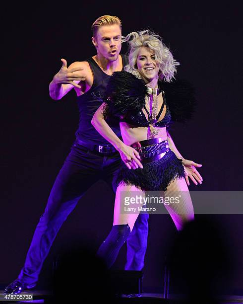 Derek Hough and Julianne Hough perform during Move Live on Tour at Hard Rock Live held at the Seminole Hard Rock Hotel Casino on June 26 2015 in...