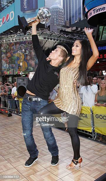 Derek Hough and Nicole Scherzinger visits ABC's 'Good Morning America' at ABC Studios on May 26 2010 in New York City