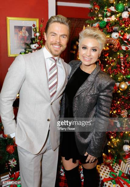 Derek Hough and Randi Strong at Derek Hough Hosts The Americana at Brand Tree Lighting Presented By BMW on November 16 in Glendale California on...