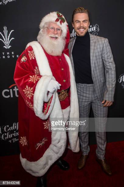 Derek Hough and Santa Claus attend the California Christmas at The Grove on November 12 2017 in Los Angeles California