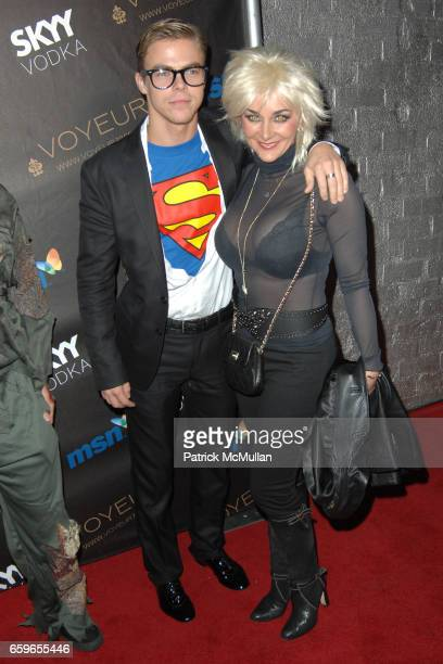 Derek Hough and Shirley Ballas attend HEIDI KLUM'S 10TH ANNUAL HALLOWEEN PARTY PRESENTED BY MSN AND SKYY VODKA at Voyeur on October 31 2009 in West...