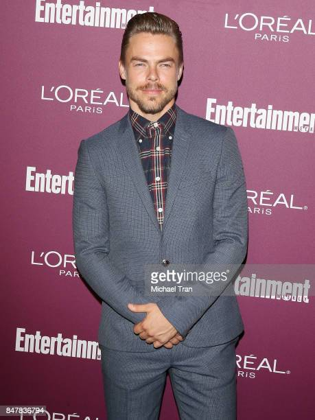Derek Hough arrives at Entertainment Weekly's 2017 PreEmmy Party held at Sunset Tower Hotel on September 15 2017 in West Hollywood California