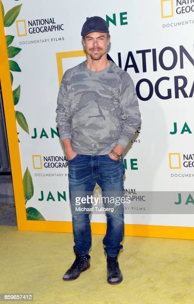 Derek Hough arrives at the premiere of National Geographic Documentary Films' 'Jane' at the Hollywood Bowl on October 9 2017 in Hollywood California