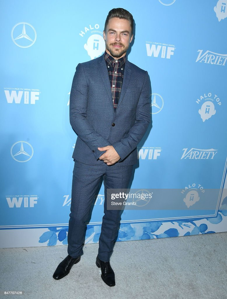 Derek Hough arrives at the Variety And Women In Film's 2017 Pre-Emmy Celebration at Gracias Madre on September 15, 2017 in West Hollywood, California.