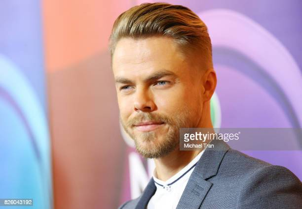 Derek Hough arrives to the 2017 Summer TCA Tour NBC Press Tour held at The Beverly Hilton Hotel on August 3 2017 in Beverly Hills California