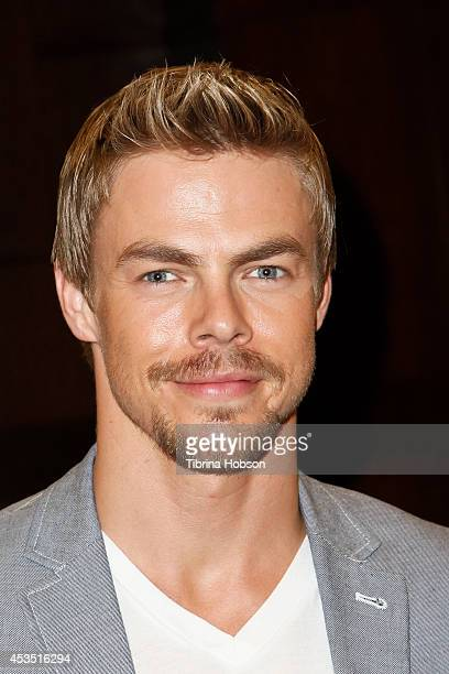 Derek Hough attends a signing for his book 'Taking The Lead Lessons From A Life in Motion' at Barnes and Noble at The Grove on August 11 2014 in Los...