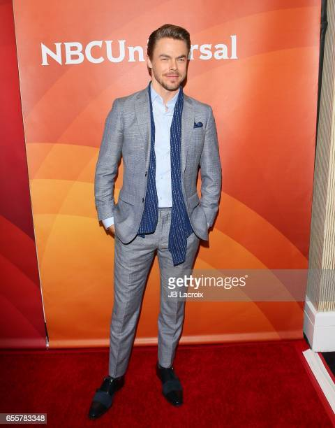 Derek Hough attends the 2017 NBCUniversal Summer Press Day on March 20 2017 in Beverly Hills California