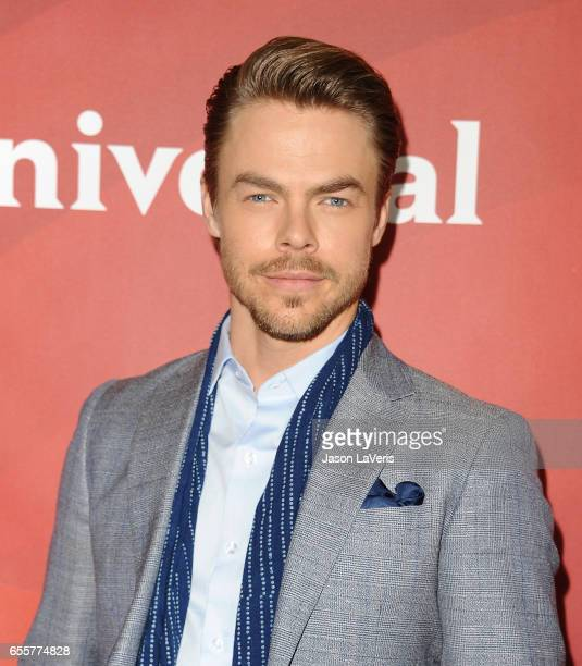 Derek Hough attends the 2017 NBCUniversal summer press day The Beverly Hilton Hotel on March 20 2017 in Beverly Hills California