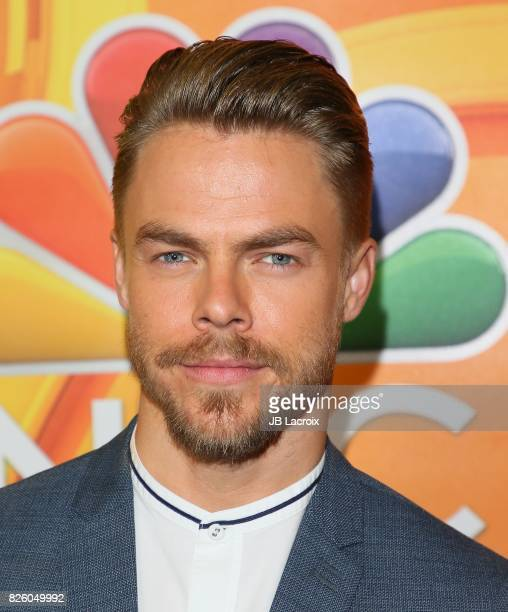 Derek Hough attends the 2017 Summer TCA Tour 'NBCUniversal Press Tour' on August 03 2017 in Los Angeles California