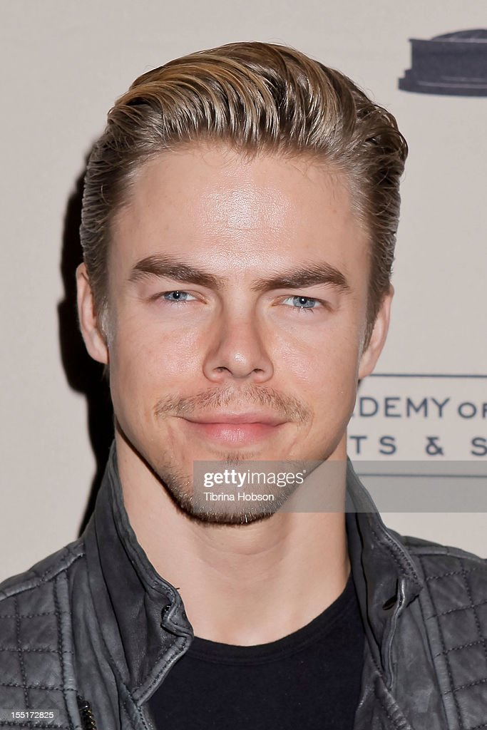 <a gi-track='captionPersonalityLinkClicked' href=/galleries/search?phrase=Derek+Hough&family=editorial&specificpeople=4532214 ng-click='$event.stopPropagation()'>Derek Hough</a> attends the Academy of Television Arts & Sciences' 'The Choreographers: Yesterday, Today & Tomorrow' event at Leonard H. Goldenson Theatre on November 1, 2012 in North Hollywood, California.