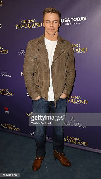Derek Hough attends the Broadway Opening Night Performance of 'Finding Neverland' at The LuntFontanne Theatre on April 15 2015 in New York City