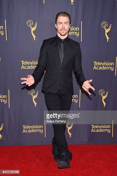 Derek Hough attends the Television Academy's 'Whose Dance Is It Anyway' at Saban Media Center on February 16 2017 in North Hollywood California