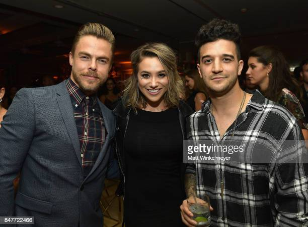 Derek Hough BC Jean and Mark Ballas attend the 2017 Entertainment Weekly PreEmmy Party at Sunset Tower on September 15 2017 in West Hollywood...
