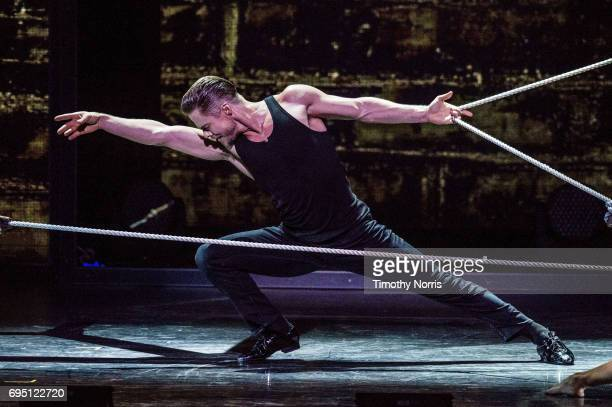 Derek Hough performs during Julianne and Derek Hough Move Beyond Live at Microsoft Theater on June 11 2017 in Los Angeles California