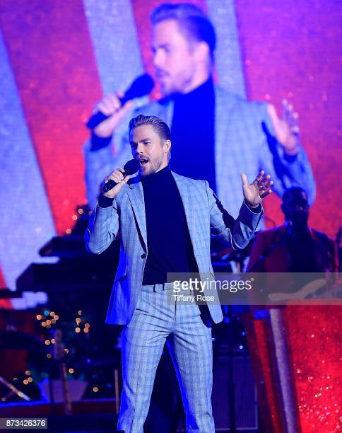 Derek Hough performs onstage at A California Christmas at the Grove Presented by Citi on November 12 2017 in Los Angeles California