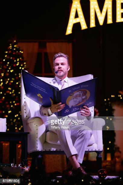 Derek Hough performs onstage at Derek Hough Hosts The Americana at Brand Tree Lighting Presented By BMW on November 16 in Glendale California on...