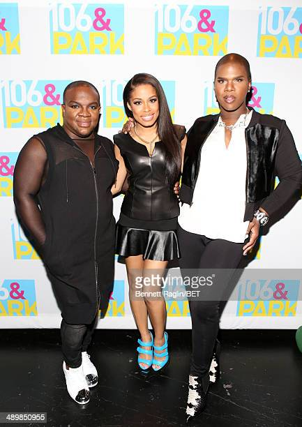 Derek J Keshia Chante and Lawrence Washington attend 106 Park at BET studio on May 12 2014 in New York City