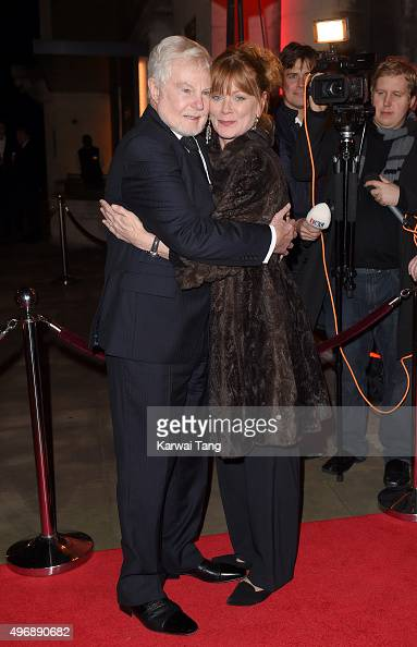 Derek Jacobi and Samantha Bond attend the Park Theatre Annual Gala Dinner at Stoke Newington Town Hall on November 12 2015 in London England