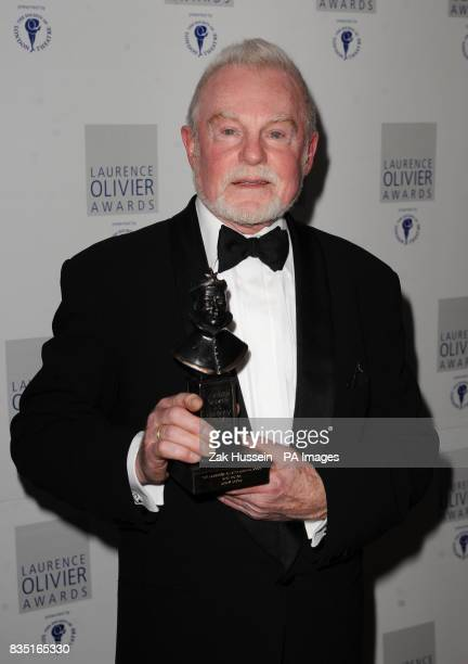 Derek Jacobi wins the Best Actor Award during the Laurence Olivier Awards at the Grosvenor Hotel in central London