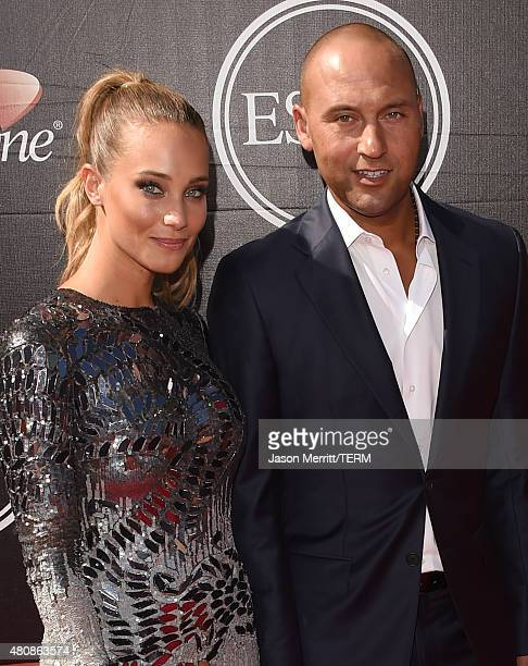 Derek Jeter and Hannah Davis attend The 2015 ESPYS at Microsoft Theater on July 15 2015 in Los Angeles California