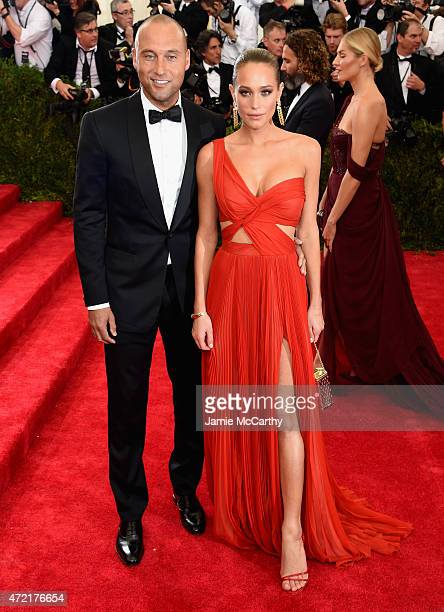 Derek Jeter and Hannah Davis attend the 'China Through The Looking Glass' Costume Institute Benefit Gala at the Metropolitan Museum of Art on May 4...