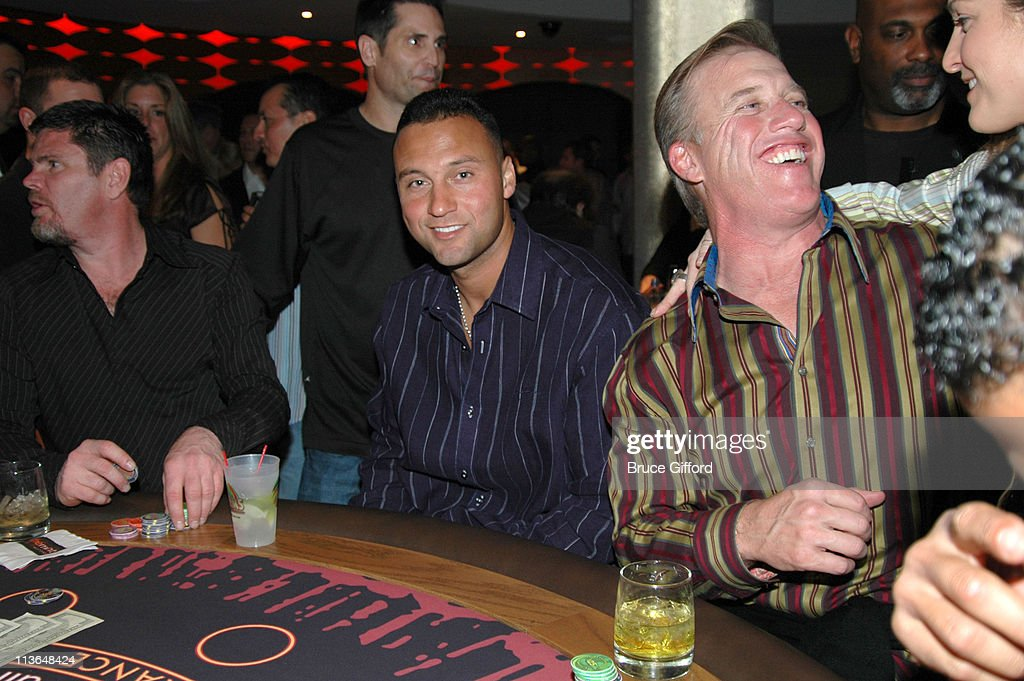 Derek Jeter and John Elway during Unveiling The Mint High Limit Lounge Hosted by Jenny McCarthy at The Palms Casino Resort in Las Vegas in Las Vegas...