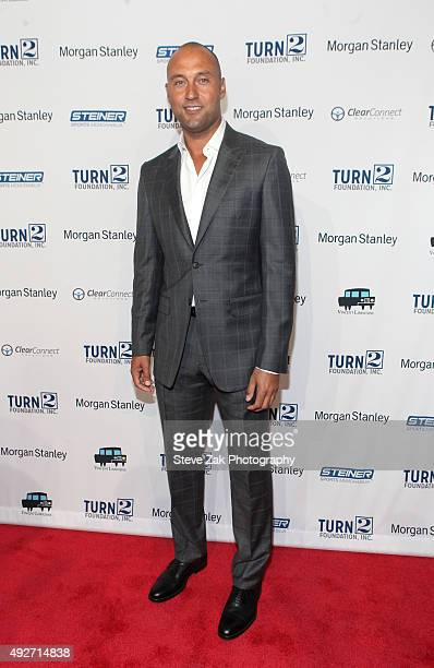 Derek Jeter attends 19th Annual Turn 2 Foundation Dinner at Cipriani Wall Street on October 14 2015 in New York City