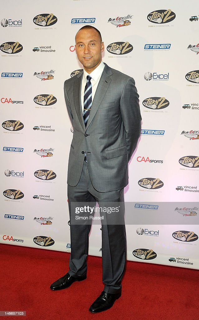<a gi-track='captionPersonalityLinkClicked' href=/galleries/search?phrase=Derek+Jeter&family=editorial&specificpeople=167125 ng-click='$event.stopPropagation()'>Derek Jeter</a> attends the 16th Annual Turn 2 Foundation Dinner Hosted By <a gi-track='captionPersonalityLinkClicked' href=/galleries/search?phrase=Derek+Jeter&family=editorial&specificpeople=167125 ng-click='$event.stopPropagation()'>Derek Jeter</a> at New York Sheraton Hotel & Tower on June 21, 2012 in New York City.