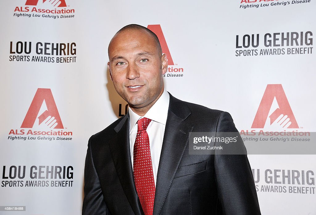 <a gi-track='captionPersonalityLinkClicked' href=/galleries/search?phrase=Derek+Jeter&family=editorial&specificpeople=167125 ng-click='$event.stopPropagation()'>Derek Jeter</a> attends the 20th Annual Lou Gehrig Sports Awards Benefit hosted by the ALS Association Greater NY Chapter at Marriott Marquis Hotel on November 4, 2014 in New York City.