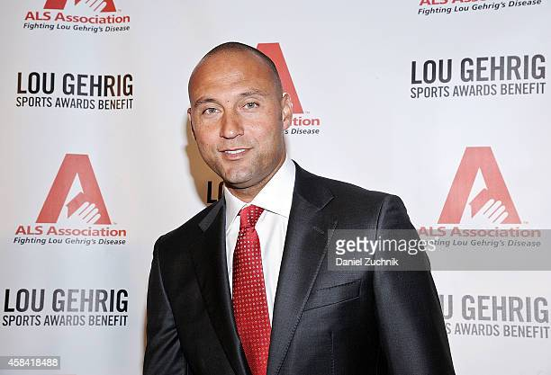 Derek Jeter attends the 20th Annual Lou Gehrig Sports Awards Benefit hosted by the ALS Association Greater NY Chapter at Marriott Marquis Hotel on...