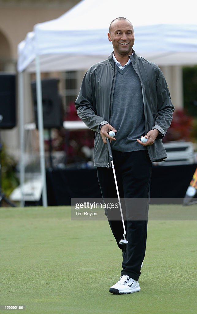 Derek Jeter attends the Derek Jeter 10th Annual Celebrity Golf Tournament Classic to benefit his Turn 2 Foundation presented by Seminole Hard Rock Hotel & Casino at Avila Golf & Country Club on January 18, 2013 in Tampa, Florida.
