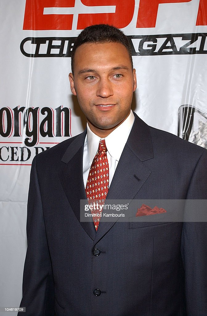 <a gi-track='captionPersonalityLinkClicked' href=/galleries/search?phrase=Derek+Jeter&family=editorial&specificpeople=167125 ng-click='$event.stopPropagation()'>Derek Jeter</a> during Party for ESPN The Magazine's 'Next' 2003 Athlete Year End Issue at EXIT in New York City, New York, United States.