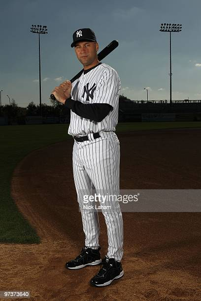 Derek Jeter of the New York Yankees poses for a photo during Spring Training Media Photo Day at George M Steinbrenner Field on February 25 2010 in...