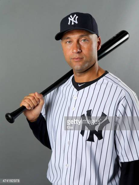 Derek Jeter of the New York Yankees poses for a portrait during New York Yankees Photo Day on February 22 2014 at George M Steinbrenner Field in...