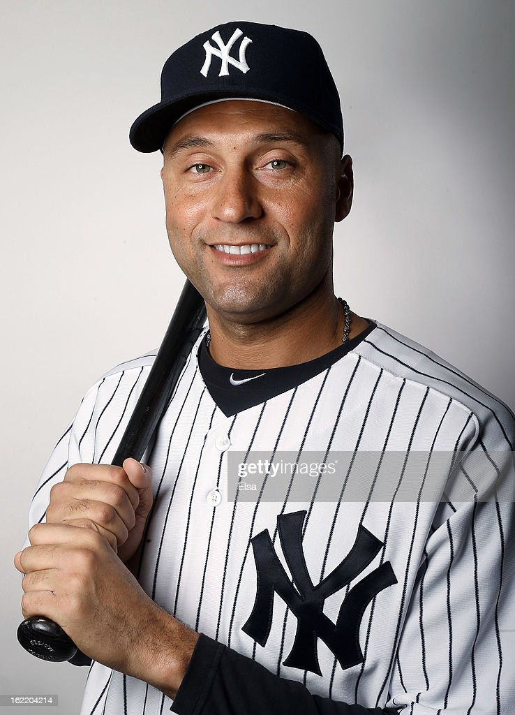 <a gi-track='captionPersonalityLinkClicked' href=/galleries/search?phrase=Derek+Jeter&family=editorial&specificpeople=167125 ng-click='$event.stopPropagation()'>Derek Jeter</a> #2 of the New York Yankees poses for a portrait on February 20, 2013 at George Steinbrenner Stadium in Tampa, Florida.