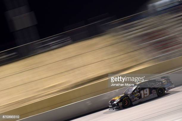Derek Kraus driver of the Carlyle Tools Toyota on track during the NASCAR KN Pro Series West Coast Stock Car Hall of Fame Championship 150 presented...