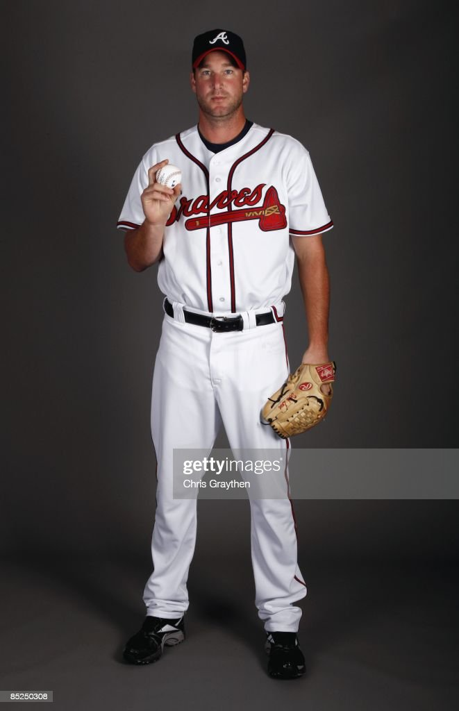 Derek Lowe of the Atlanta Braves poses for a photo during Spring Training Photo Day on February 19 2009 at Champions Stadium at Walt Disney World of...