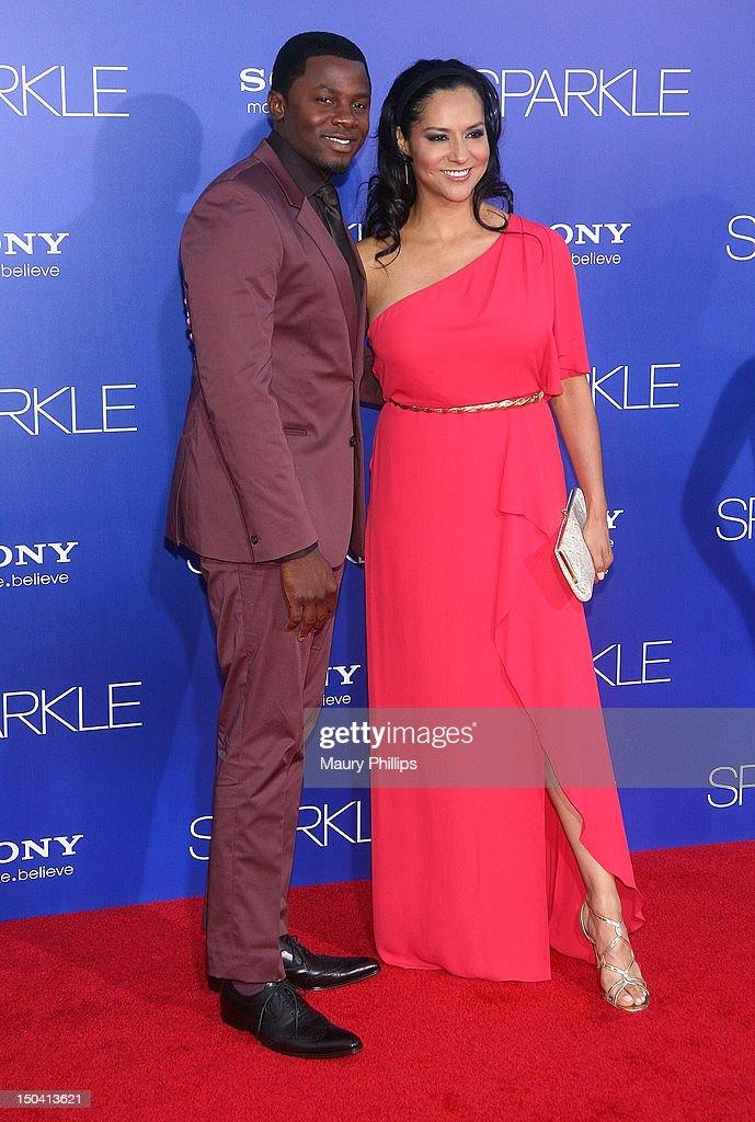 <a gi-track='captionPersonalityLinkClicked' href=/galleries/search?phrase=Derek+Luke&family=editorial&specificpeople=244010 ng-click='$event.stopPropagation()'>Derek Luke</a> and guest arrive at the Los Angeles Premiere of 'Sparkle' at Grauman's Chinese Theatre on August 16, 2012 in Hollywood, California.