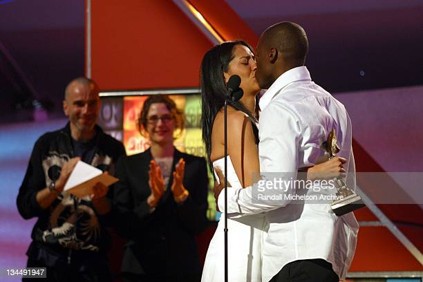 Derek Luke and his wife Sophia Luke accept his award for Best Male Lead for his turn in 'Antwone Fisher'