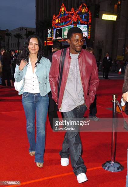 Derek Luke and his wife Sophia Luke during 'Mission Impossible III' Fan Screening Arrivals at Grauman's Chinese Theatre in Beverly Hills California...