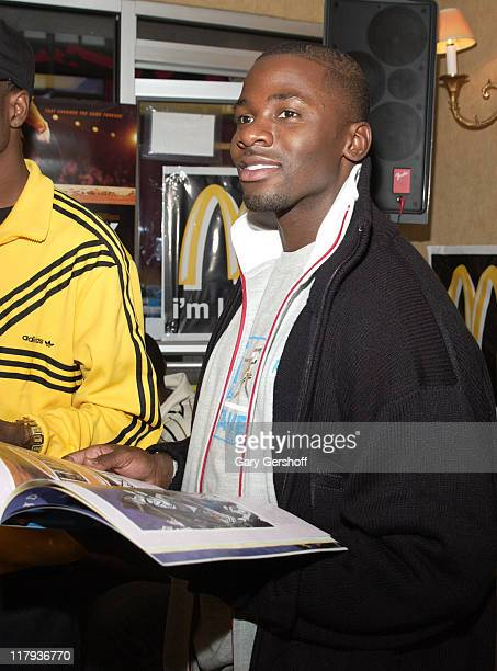Derek Luke during New York Knicks Players and the Cast of 'Glory Road' Honor Martin Luther King Jr at McDonalds January 12 2006 at McDonald's in New...